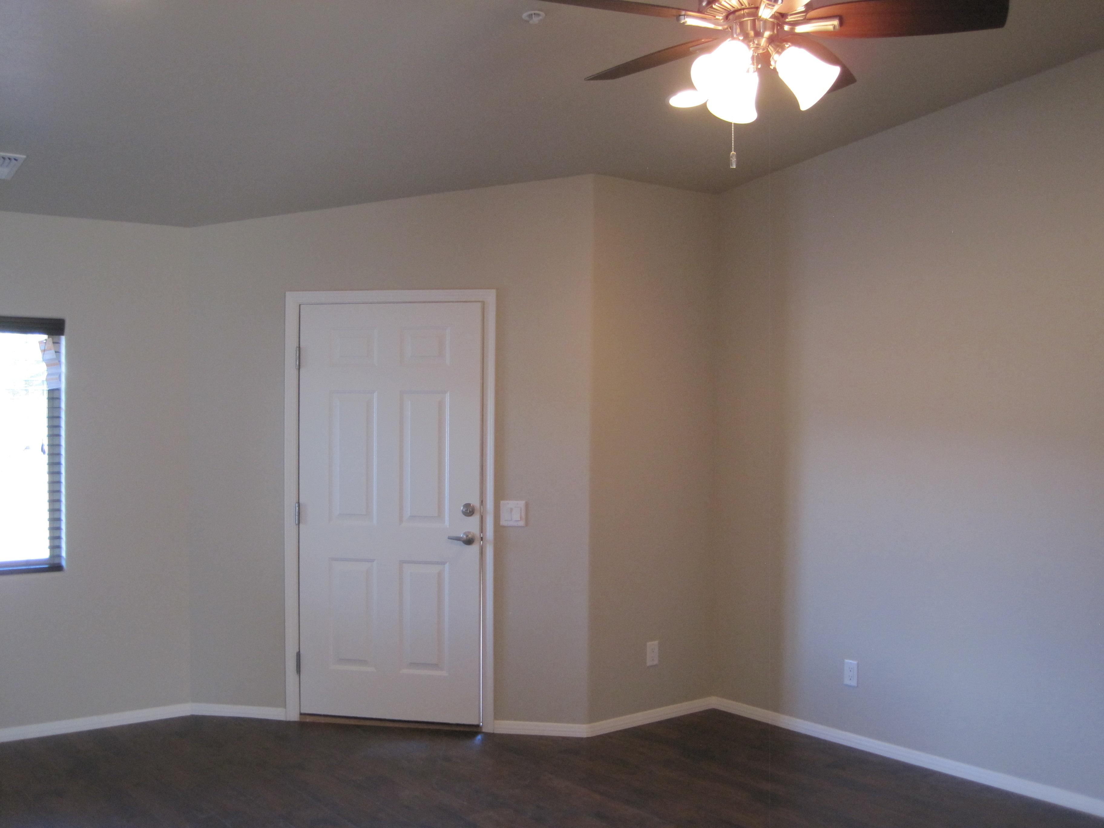 Two tone paint, looking toward front door.