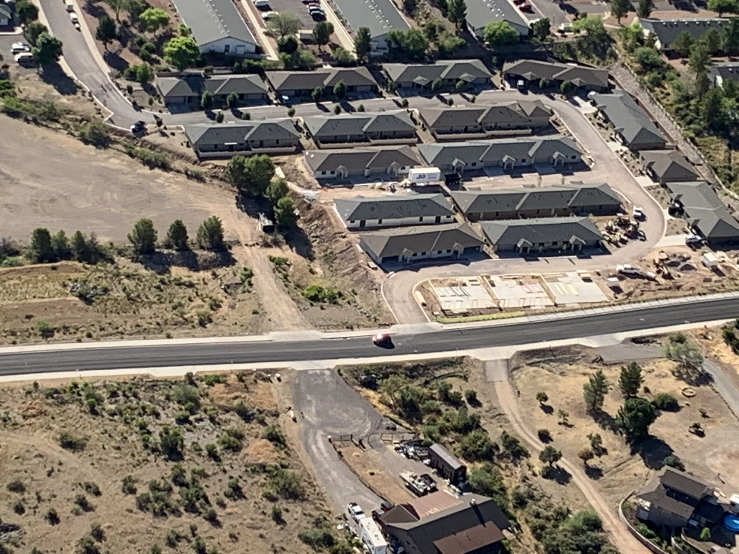 Aerial View of Apartments Cottonwood AZ for rent